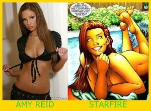Amy Reid como Starfire