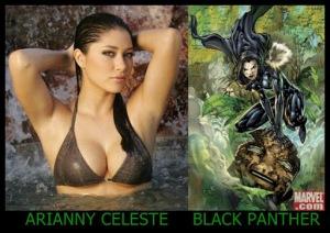 Arianny Celeste como Black Panther