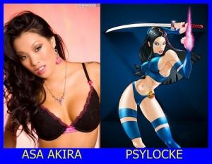 Asa Akira como Psylocke