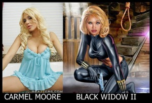 Carmel Moore como Black Widow II