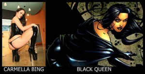 Carmella Bing como Black Queen