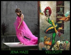 Jena Haze como Velocity
