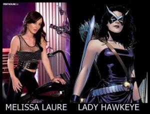 Melissa Laure como Lady Hawkeye