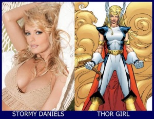 Stormy Daniels como Thor Girl